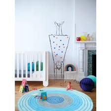 blue kids rug round