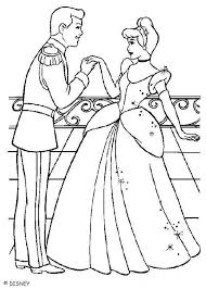 Disney S Cinderella Coloring Pages Cinderella And Prince Charming