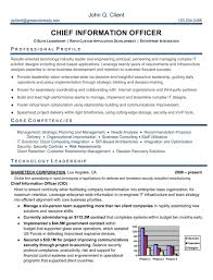 CIO Executive Resume Sample  Chief Information Officer Resume