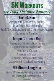 5k workouts for long distance runners