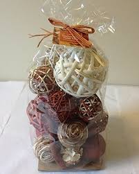 Decorative Vase Filler Balls Orange Rattan Decorative Spheres Fall Vase Filler 7