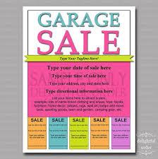 Editable And Printable Garage Sale Flyer 1 Pdf File Instant