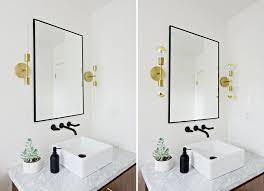 edison bulbs or gold dipped bulbs two bathroom lighting options