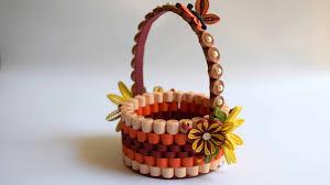 Paper Quilling Flower Baskets Quilled Basket Part 1 Paper Basket Quilling Basket Quilled Flower