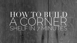 corner shelf tutorial