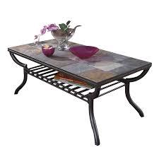 ashley antigo slate tile rectangular coffee table in black