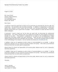 Sample Post Internship Thank You Letter Platforme Co
