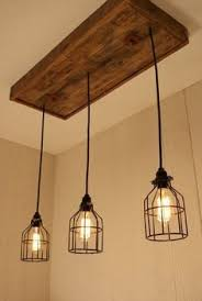 Image Ceiling Cage Light Chandelier With Lights Cage Lighting Edison Bulb Upcycled Wood Pinterest Cage Light Chandelier With Lights Cage Lighting Edison Bulb