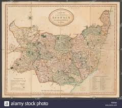 Suffolk A New Map Of The County Of Suffolk Divided Into H