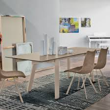 contemporary dining table red gl metal porcelain stoneware giove 160