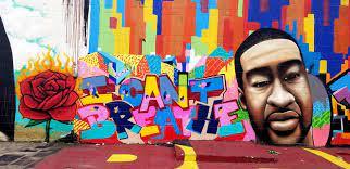 George Floyd mural in Houston ...