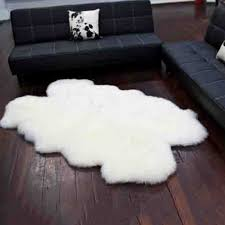 quad sheep skin rug