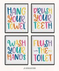 kids bathroom print gender neutral prints digital kids bathroom wall decor t58 wall