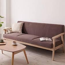 ah schmitt nordic wood futon washable fabric sofa chair office cafe small apartment n99 office
