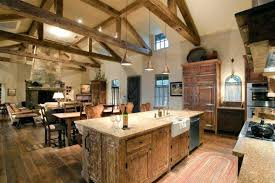 Rustic Open Kitchen Designs Gathering Spaces Rustic Kitchen By