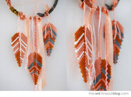 Dream Catcher Without Feathers TUTORIAL Make a dream catcher with Hama bead feathers We Are 43