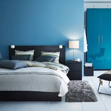 ikea bedroom ideas blue. A Modern Blue And Black Bedroom With MALM Bed In PAX Wardrobe High Ikea Ideas E