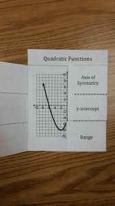 quadratic functions foldable this foldable covers domain and range and the main voary of quadratic