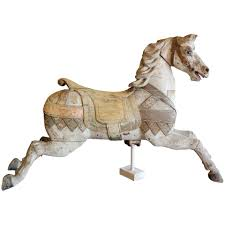 carved wood carousel horse by heyn to expand