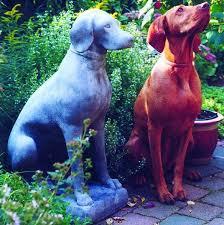dog stone garden sculpture garden