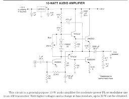 amplifier electronic circuits audio amp schematics page 1 10 watt 12 volt audio amplifier