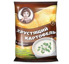 «Хрустящий <b>картофель</b>», <b>чипсы</b> со вкусом <b>сметаны и</b> лука ...