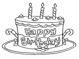 Small Picture Stunning Blank Birthday Cake Coloring Page Gallery Printable