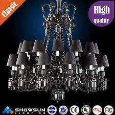 zhongshan black baccarat crystal chandelier with lampshade