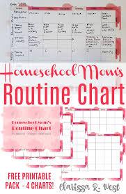 Free Printable Homeschool Moms Routine Chart Clarissa R
