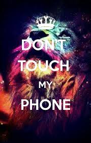 dont touch my phone wallpaper 3d