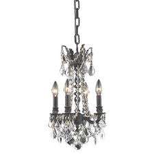 patience 4 light candle style chandelier finish dark bronze size 22