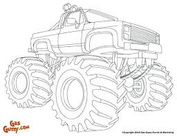 Monster Truck Coloring Pages Free Printable Raovat24hinfo