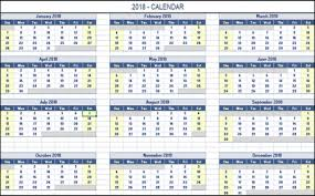 excel 2018 yearly calendar 2018 calendar templates images techno docs