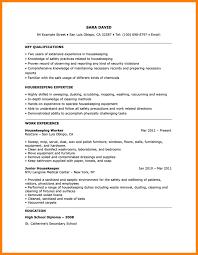 Housekeeper Resume Resume Objective Job And Template Regarding Housekeeping Examples 83