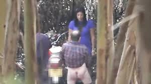 Real prostitute hidden outdoor