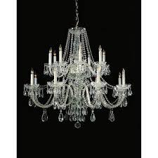 crystorama lighting group traditional polished chrome eight light swarovski strass crystal chandelier