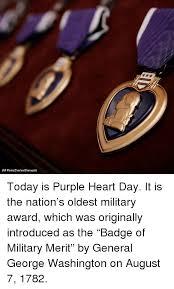 Image result for 1782, Gen. George Washington creates the Purple Heart