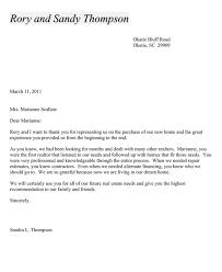 Real Estate Recommendation Letter Sample Realtor Thank You Letter Cover Letter Samples Cover