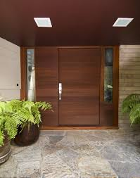 Custom Made Front Entry Door With Horizontal Grain by Michael ...
