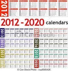 New Year 2012 2020 Calendars