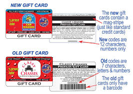 the new gift cards will be able to be used at all cly chis locations and for all services including full and self serve car washes