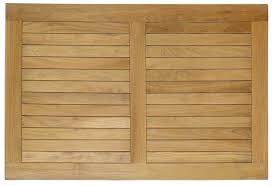 rectangle teak top