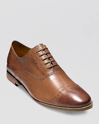 brown leather oxford shoes cole haan cambridge cap toe oxfords