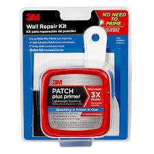 com 3m ppp kit with 8 fl oz plus primer self adhesive patch putty knife and sanding pad 1 tub home improvement