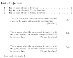 List Of Quotes Amazing Cross Referencing How To Reference A Quote Like An Equation TeX