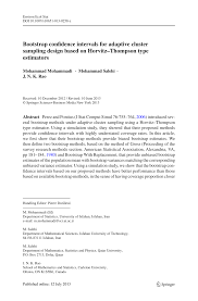 Types Of Sampling Design Pdf Bootstrap Confidence Intervals For Adaptive Cluster