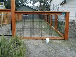 wire fence designs.  Wire Wood And Wire Fence Panels Install A Hog Video Diy Designs N