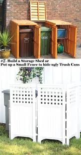 patio garbage can patio garbage can elegant 7 build a storage shed or put up a