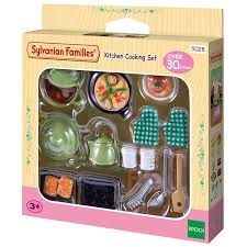 Sylvanian Families Kitchen Cooking Set Amazoncouk Toys  Games - Swivel classy sylvanian families living room set