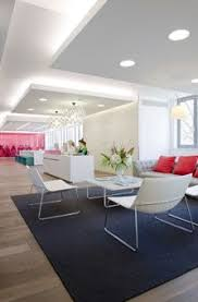 office reception interior. White / Reception Visitor Waiting Lounge Catifa Dropped Rafts. CohnWolfe. Office InteriorsCorporate InteriorsOffice Interior